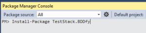 Install BDDfy